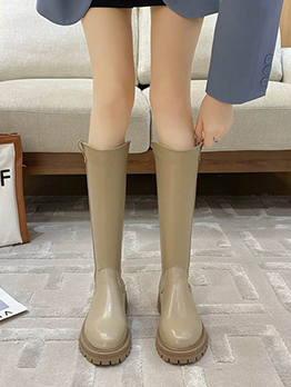 Winter Solid Thick Bottom Mid Calf Boots