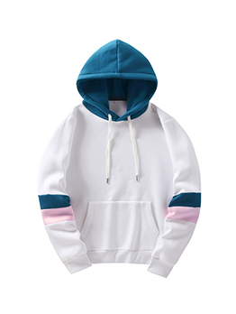 Contrast Color Fashion Casual Hoodies For Men