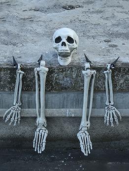 Halloween Skull Plastic Haunted House Decoration Sets