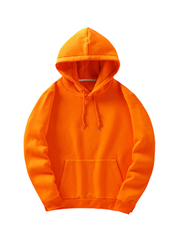 Autumn Thicker Pure Color Plain Casual Hoodies