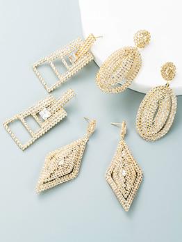 Gorgeous Geometry Shape Golden Vintage Earring