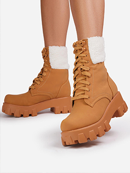 Latest Style Winter Plush Thicker Ankle Boots