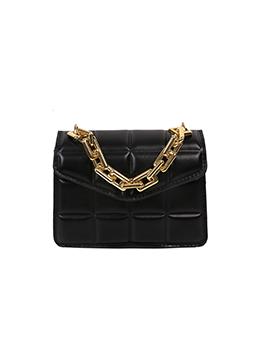 Trendy Grid Hasp Chain Shoulder Handbag