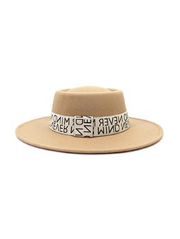 Individual Letter Brim Korean Style Fedora Hat