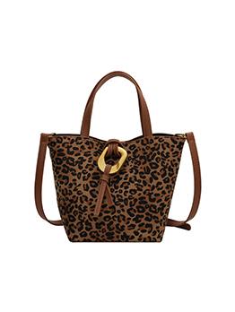 Versatile Leopard Travel Bucket Tote Bag