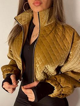 Autumn Trendy Turndown Collar Casual Short Coat