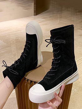 British Style Lace Up Design Martin Boots
