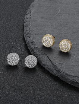 Simple Designed Fashionable Round Shape Earring