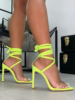 Pointed Toe Super High Heel Sandals Ladies