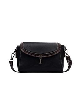 Vintage Zipper Shoulder Bag For Women