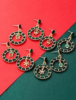 Euramerican Geometry Stylish Christmas Earrings