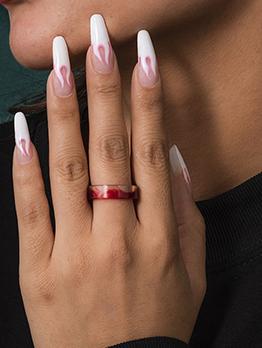 Plain Irregular Fashion Versatile Women Ring