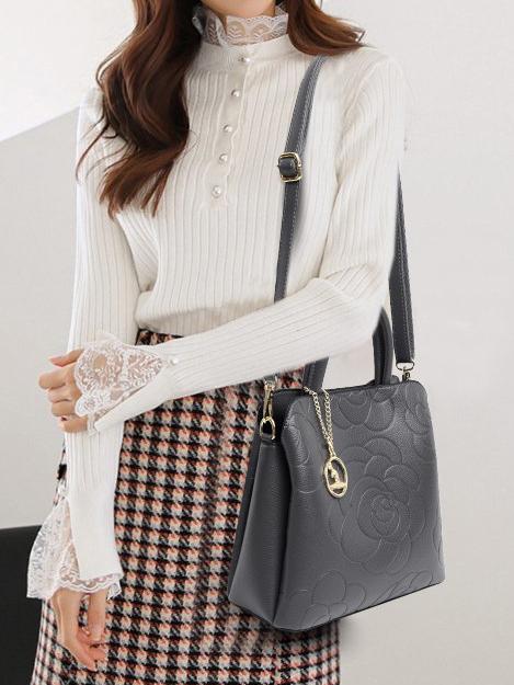 Simple Rose Comfortable Shoulder Bags  For Women
