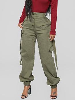 Casual Fashion High Waist Cargo Pants