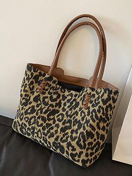 Casual Cool Leopard Zipper Up Tote Bag