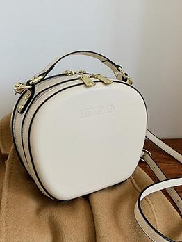 Chic Shell Shape Zipper Down Shoulder Bag