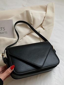Casual Simple Design Hasp Shoulder Bag