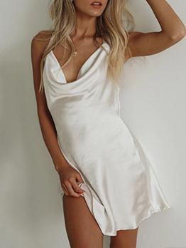 Sexy Backless Halter Tie Wrap Short Dress