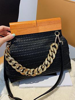 New Fashion Chain Contrast Color Chic Tote Bag