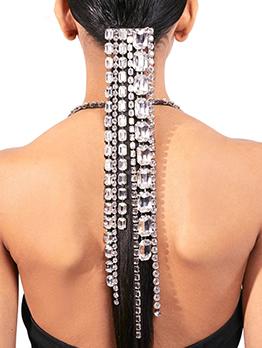 Characteristic Shinny Rhinestone Irregular Fringe Hair Chain