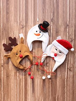 Cute Elk Snowman Hat Christmas Tree Hat Decoration