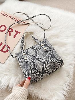Snake Printed Vintage Shoulder Handbag For Women