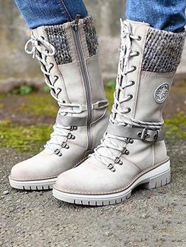 Casual Winter Vintage Comfy Mid Calf Boots