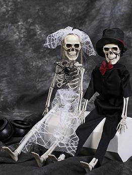 Halloween Simulation Human Skeleton 40cm Couple