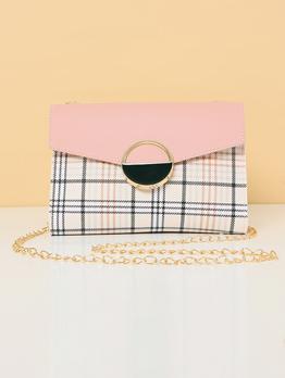 Korean Style Plaid Chain Shoulder Bags