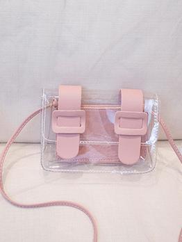 Causal Transparent Hasp Shoulder Bag Sets