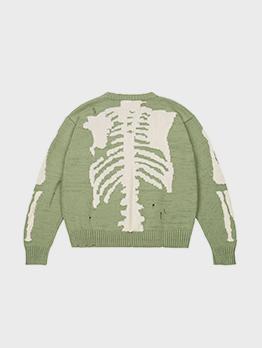 Skull Jacquard Weave Knitting Sweater Unisex