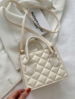 Simple Modern Rhombus Lattice Square Shoulder Bags