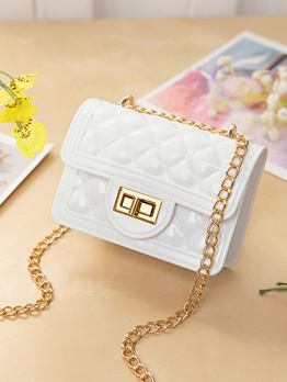 Rhombic Pattern Chain Handle Mini Shoulder Bags