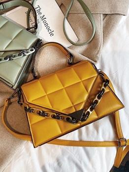 New Plaid Chain Design Ladies Handbags