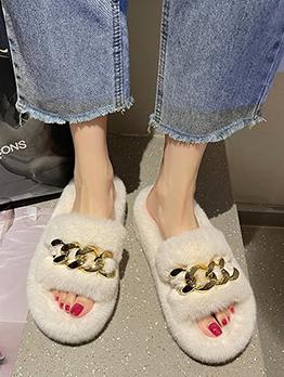 Fashion Home Casual Fall Winter Plush Slippers