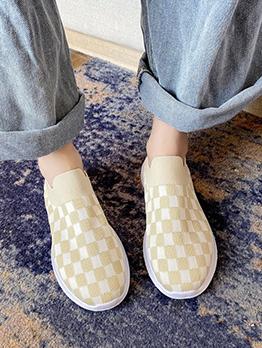 Comfy Casual Stylish Plaid Flats Shoes