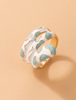Special Designed Contrast Color Irregular Ring