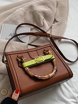 Vintage Zipper Up Tote Bag For Women