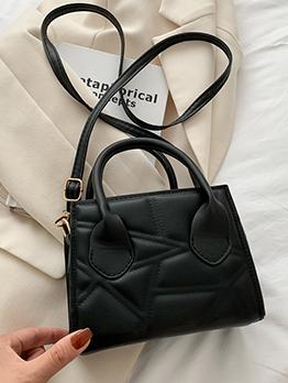 Korean Style Geometric Solid Shoulder Handbag