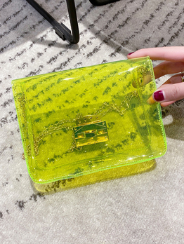 Candy Color Transparent PVC Jelly Chain Crossbody Bags