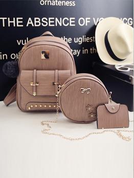 Preppy Style Versatile 3 Piece Backpack Sets