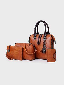 Vintage Tassel 4 Piece Bag Sets