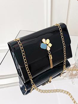 Fashion Laser Chain Tassel Shoulder Bag