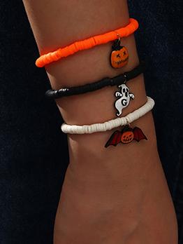 Funny Ghost Bat Three Piece Halloween Bracelet Set