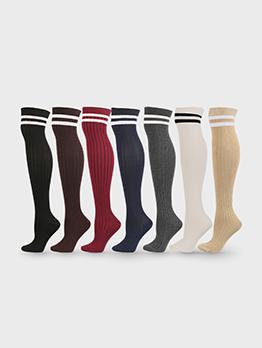 Stylish Striped Warmth Knitting Long Socks