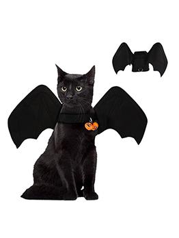 Adorable Plain Black Bell Halloween Pet Costumes