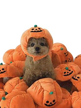 Cute Halloween Pumpkin Hat All-Match Pet Hat