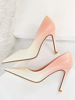 Gradient Color High Heels Women Shoes