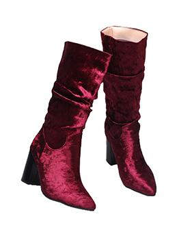 Autumn Velvet Mid Calf Boots For Women
