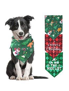 New Pet Christmas Triangle Scarf Dog Saliva Towel